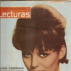 Coleccionismo de Revistas: LECTURAS Nº 599--11-10-1963---CLAUDIA CARDINALE. Lote 24796349