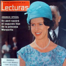 Coleccionismo de Revistas: REVISTA LECTURAS, Nº 608, 13 DE DICIEMBRE DE 1963. MARGARITA DE INGLATERRA. Lote 26120632