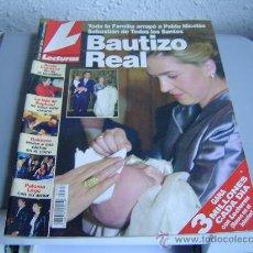 Coleccionismo de Revistas: REVISTA LECTURAS.BAUTIZO REAL.. Lote 23220713
