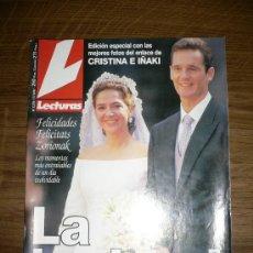 Coleccionismo de Revistas: REVISTA LECTURAS NÚM. 2376 1997. LA BODA DE CRISTINA E URDANGARIN. Lote 25801890