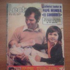 Coleccionismo de Revistas: REVISTA LECTURAS, Nº 1082 12 ENERO 1973 PAPA MANOLO EL CORDOBES . Lote 24436691