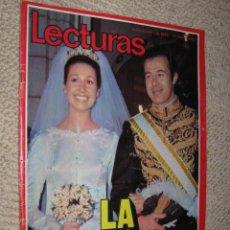 Coleccionismo de Revistas: LECTURAS Nº 1039 17 MARZO 1972. BODA DUQUES DE CÁDIZ, ALFONSO DE BORBÓN Y CARMEN FRANCO. Lote 34710237