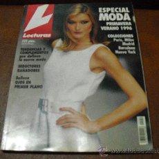 Coleccionismo de Revistas: REV LECTURAS ESP. MODA PRIMAVERA VERANO 1996 - CARLA BRUNI.-COLECCIONES,BAÑADORES, TENDENCIAS-. Lote 26728656