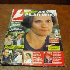 Coleccionismo de Revistas: REV.: LECTURAS 10/1997 .-ADIOS A PILAR MIRO,RPTJE. MICHAEL JACKSON EN SUDAFRICA,ANTTHONY QUINN,CA. Lote 26903532