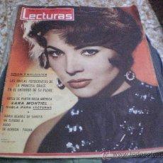 Coleccionismo de Revistas: REVISTA PORTADA SARA MONTIEL LECTURAS 15 JULIO 1960. Lote 27456448