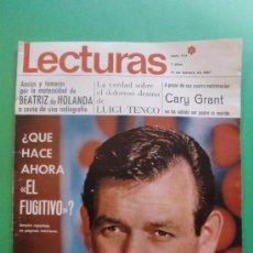 Coleccionismo de Revistas: LECTURAS Nº 774 17 DE FEBRERO DE 1967 - EL FUGITIVO - MARISOL - LOS GATOS NEGROS - B.B. MOUREAU. Lote 28941079