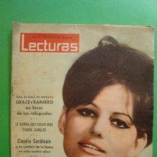 Coleccionismo de Revistas: LECTURAS Nº 561 18/01/1963 - CLAUDIA CARDINALE - GRACE KELLY - CHARLOT - BELMONDO. Lote 28954817