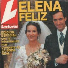 Collezionismo di Riviste: REVISTA LECTURAS Nº 2243 - 31/3/95 - EDICIÓN ESPECIAL - BODA REAL - ELENA FELIZ. Lote 29850666