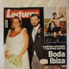 Coleccionismo de Revistas: REVISTA LECTURAS. Nº2941. AGO 2008. BODA EN IBIZA DE CARITINA GOYANES Y ANTONIO MATOS. Lote 29748628