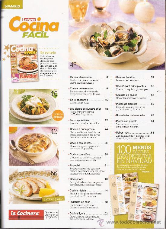 Lecturas cocina facil especial navidad 70 pl comprar for Videos de cocina facil