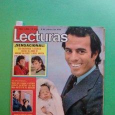 Coleccionismo de Revistas: LECTURAS Nº 1090 9 MARZO 1973 JULIO IGLESIAS - MURIO MANOLO CARACOL - SERRAT - LUCIA Y MIGUEL BOSE. Lote 30180619