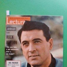 Coleccionismo de Revistas: LECTURAS Nº 710 26 DE NOVIEMBRE 1965 ROCK HUDSON - URSULA ANDRESS - SARA MONTIEL - FRANCE GALL. Lote 30190487