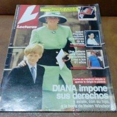 Coleccionismo de Revistas: REV. LECTURAS 7/92 DIANA RPTJE.CARMEN CONESA,HNAS. VALVERDE,MARTA SANCHEZ, EL PAPA. Lote 30865275