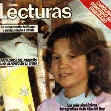Coleccionismo de Revistas: LECTURAS Nº 1.664 DEL 9 MARZO 1.984 LA INFANTA ELENA/CARMEN SEVILLA. Lote 31795675