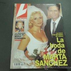 Coleccionismo de Revistas: REVISTA LECTURAS 1995 BODA MARTA SANCHEZ MUERTE MARIVI DOMINGUIN. Lote 31808353