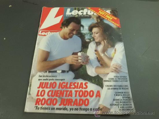 REVISTA LECTURAS 1986 PORTADA ROCIO JURADO JULIO IGLESIAS (Coleccionismo - Revistas y Periódicos Modernos (a partir de 1.940) - Revista Lecturas)