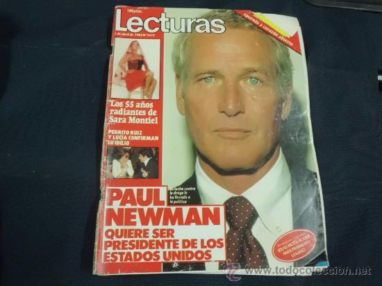 REVISTA LECTURAS AÑO 1983 PORTADA PAUL NEWMAN SARA MONTIEL (4 PAG) SUPLEM ESPECIAL MODA PRIM-VERA (Coleccionismo - Revistas y Periódicos Modernos (a partir de 1.940) - Revista Lecturas)