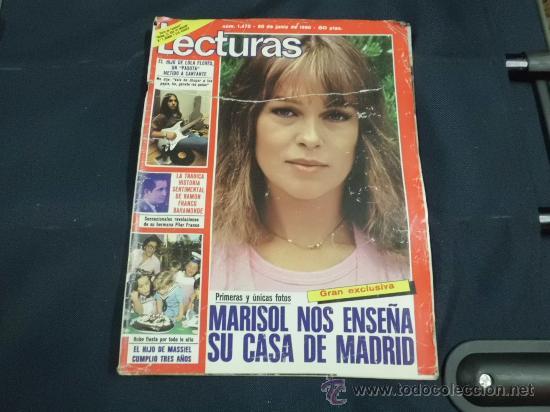 REVISTA LECTURAS AÑO 1980 PORTADA MARISOL (Coleccionismo - Revistas y Periódicos Modernos (a partir de 1.940) - Revista Lecturas)