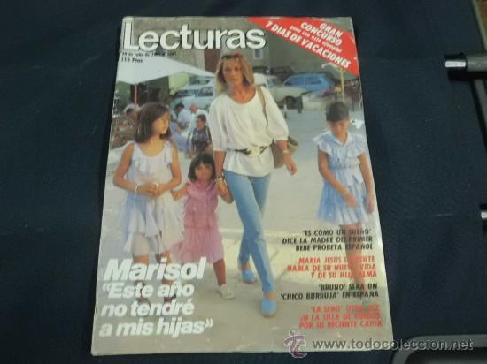 REVISTA LECTURAS AÑO 1984 PORTADA MARISOL REPORTAJE BAUTIZO HIJA MICK JAGGER ( ROLLING STONES ) (Coleccionismo - Revistas y Periódicos Modernos (a partir de 1.940) - Revista Lecturas)