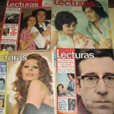 Coleccionismo de Revistas: LOTE DE 4 REVISTAS LECTURAS AÑOS 70 - POSTER DIRE STRAITS, MASSIEL.... Lote 33260708