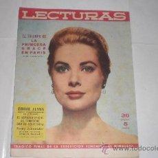 Coleccionismo de Revistas: REVISTA LECTURAS Nº462,-1 DE SEPTIEMBRE 1959 LA PRINCESA GRACE EN PARIS. Lote 33488808