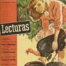 Coleccionismo de Revistas: LECTURAS Nº 266 - DICIEMBRE 1946 - RELATOS, CINE (INGRID BERGMAN Y LAUREN BACALL), MUNTAÑOLA, ETC.. Lote 33548520