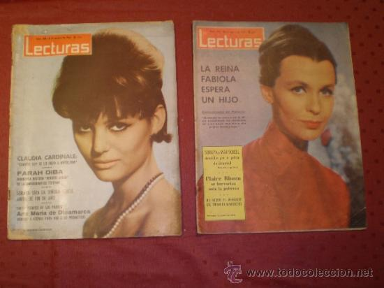DOS REVISTAS LECTURAS AÑO 1963 (Coleccionismo - Revistas y Periódicos Modernos (a partir de 1.940) - Revista Lecturas)
