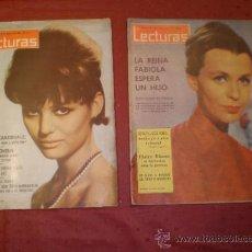 Coleccionismo de Revistas: DOS REVISTAS LECTURAS AÑO 1963. Lote 33688412