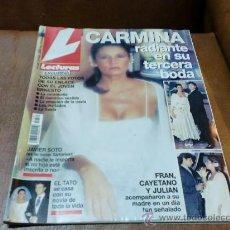 Coleccionismo de Revistas: REV. LECTURAS-.11/97 CARMINA RADIANTE AMPL.RPTJE.DE SU BODA,ROCIO DURCAL,PALOMA SAN BASILIO. Lote 33712134