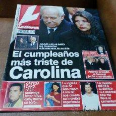 Coleccionismo de Revistas: REV. LECTURAS-.2/98 CAROLINA AMPL.RPTJE.CUMPLE 30 AÑOS DE FELIPE,ISABEL PREYSLER,MIGUEL BOSÉ,M.FLO. Lote 33712192
