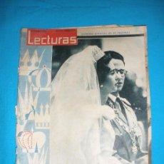 Coleccionismo de Revistas: REVISTA LECTURAS,AÑO 1960,Nº489. BODA D FABIOLA Y BALDUINO,ETC.. Lote 33791308
