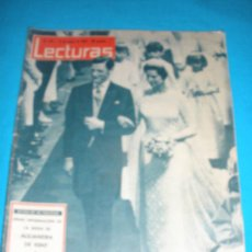 Coleccionismo de Revistas: REVISTA LECTURAS,AÑO 1963,Nº576.BODA D ALEJANDRA D KENT.MONUMENTO A LA SARDANA, MANRESA. Lote 33791886