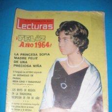 Coleccionismo de Revistas: REVISTA LECTURAS,AÑO 1963,Nº610.EN PORTADA PRINCESA SOFIA MADRE D UNA NIÑA. Lote 33792449