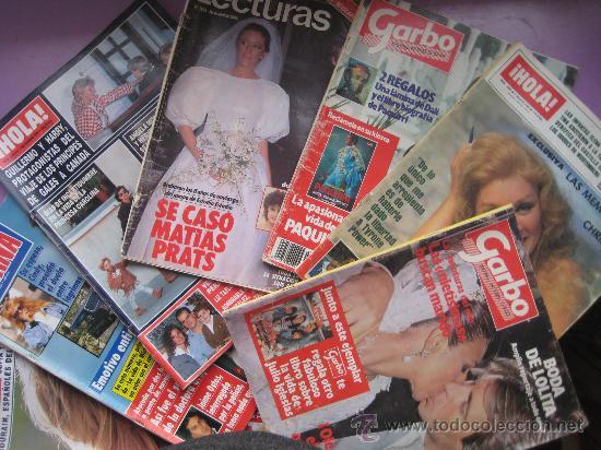 LOTE 7 REVISTAS CORAZON AÑOS,80 Y 90, HOLA, GARBO,LECTURAS,SEMANA. (Coleccionismo - Revistas y Periódicos Modernos (a partir de 1.940) - Revista Lecturas)