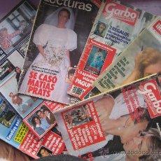 Coleccionismo de Revistas: LOTE 7 REVISTAS CORAZON AÑOS,80 Y 90, HOLA, GARBO,LECTURAS,SEMANA.. Lote 34198268