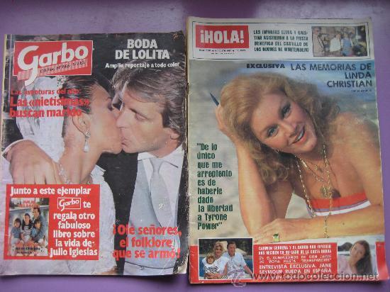 Coleccionismo de Revistas: LOTE 7 REVISTAS CORAZON AÑOS,80 Y 90, HOLA, GARBO,LECTURAS,SEMANA. - Foto 2 - 34198268