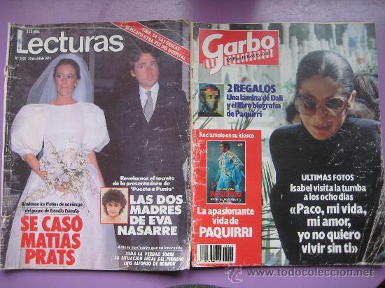 Coleccionismo de Revistas: LOTE 7 REVISTAS CORAZON AÑOS,80 Y 90, HOLA, GARBO,LECTURAS,SEMANA. - Foto 3 - 34198268