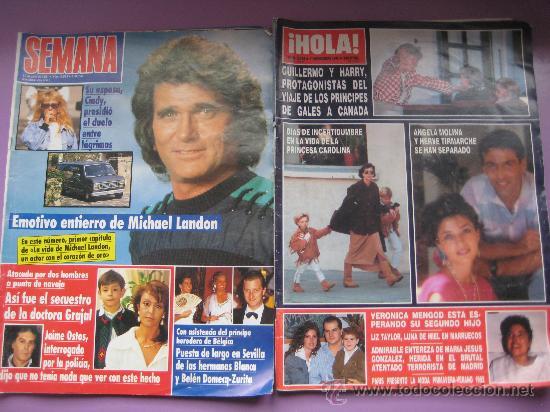 Coleccionismo de Revistas: LOTE 7 REVISTAS CORAZON AÑOS,80 Y 90, HOLA, GARBO,LECTURAS,SEMANA. - Foto 4 - 34198268