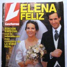 Coleccionismo de Revistas: REVISTA LECTURAS - Nº 2243 - ELENA FELIZ - EDICION ESPECIAL DE LA BODA REAL -. Lote 34528615