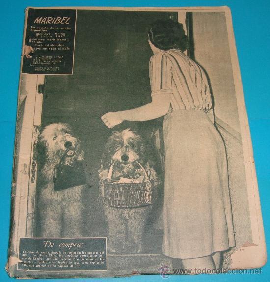 REVISTA ARGENTINA MARIBEL AÑO1947, MODA, ENTREVISTAS, ANUNCIOS DE LA EPOCA (Coleccionismo - Revistas y Periódicos Modernos (a partir de 1.940) - Revista Lecturas)