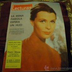 Coleccionismo de Revistas: REVISTA LECTURAS AÑO 1963 N 593 REINA FABIOLA, SORAYA Y MAX SCHELL, CLAIRE BLOOM, . Lote 35487659