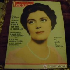 Coleccionismo de Revistas: REVISTA LECTURAS AÑO 1961 N 491 FABIOLA, ONASSIS, . Lote 35487668