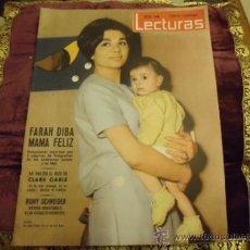Coleccionismo de Revistas: REVISTA LECTURAS AÑO 1961, N 496, FARAH DIBA, CLARK GABLE, ROMY SCHNEIDER, . Lote 35487675