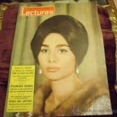 Coleccionismo de Revistas: REVISTA LECTURAS AÑO 1964 N 612 MONTSE RODES, FARAH DIBA, SUGA DEL JAPON, FARAH DE PERSIA. Lote 35487716