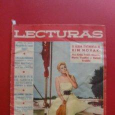 Coleccionismo de Revistas: LECTURAS Nº 430 01/07/1958 KIM NOVAK - INGRID BERGMAN Y ROBERTO ROSSELLINI - FRANK SINATRA . Lote 36097770