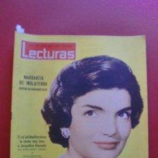 Coleccionismo de Revistas: LECTURAS Nº 540 24/08/1962 JACQUELINE KENNEDY - DI STEFANO MISTER R. MADRID - MINOU DROUET - MARISOL. Lote 36526301
