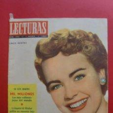 Coleccionismo de Revistas: LECTURAS Nº 394 01/01/1957 TERRY MOORE - LAS JOYAS MAS VALIOSAS DEL MUNDO - HUMPREY BOGART - ESPELEO. Lote 36973958