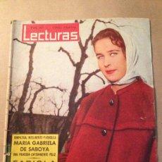 Coleccionismo de Revistas: LECTURAS / Nº485/ 15 DE OCTUBRE DE 1960 /PORTADA MARIA GRABIELA DE SABOYA. Lote 37201338