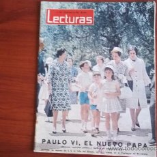 Coleccionismo de Revistas: LECTURAS Nº 584 - 28 DE JUNIO DE 1963 / PORTADA - LA ESPOSA DE FRANCO Y SUS NIETOS EN BARCELONA. Lote 38035833