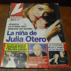 Coleccionismo de Revistas: REV: LECTURAS 11/1996 JULIA OTERO AMPL.RPTJE.SYLVIE VARTAN,BODA ENRIQUE/PALOMA,ROSARIO FLORES,.. Lote 38383416